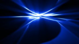 interesting dynamic blue trails in 3D space - motion graphic