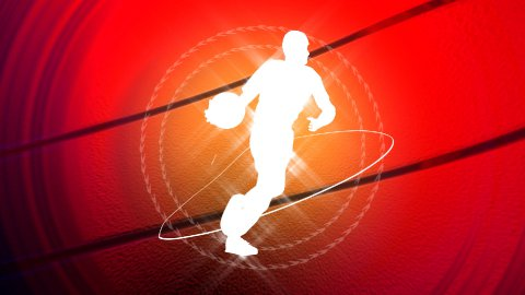 basketball background LOOPED - stock footage