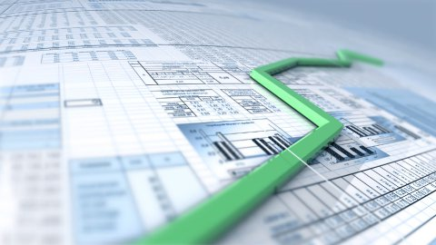 Growing chart over spreadsheet LOOP - stock footage
