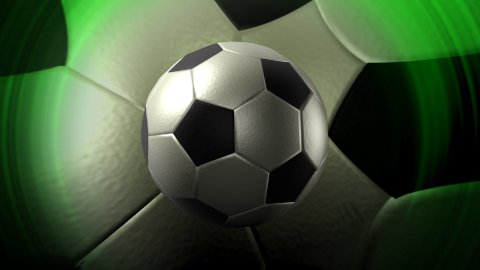 soccer ball background LOOP - stock footage