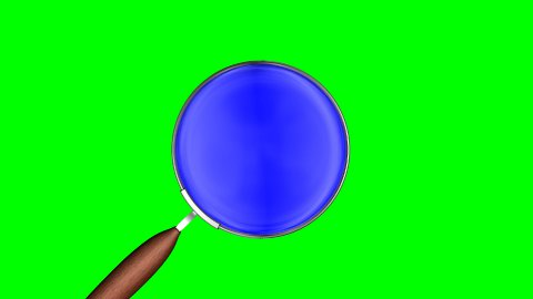 magnifier on green with lens mask - stock footage