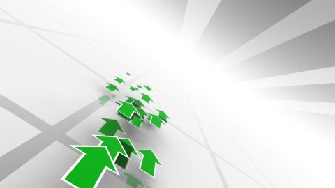 Moving Green Arrows LOOPED - stock footage