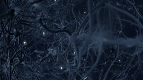 Neurons and brainstorm LOOPED - stock footage