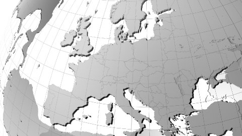Globe and zoom to Europe - stock footage