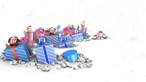 Zillions of Presents LOOPED - stock footage
