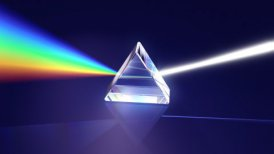 Prism and light dispersion LOOPED - motion graphic