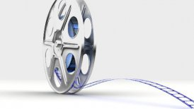 Film reel breaking - motion graphic