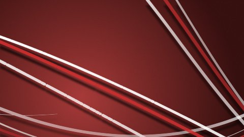 dynamic white and red trails on red background LOOPED - stock footage
