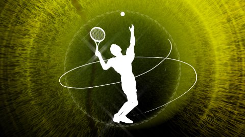 tennis background LOOP - stock footage