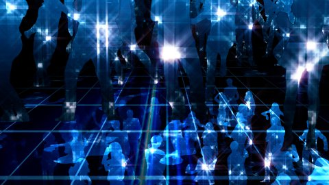 Party and dancing shiny crowd LOOPED - stock footage