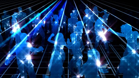 Party and dancing shiny crowd - stock footage