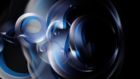 Abstract background with 3d rendered cloth elements - stock footage