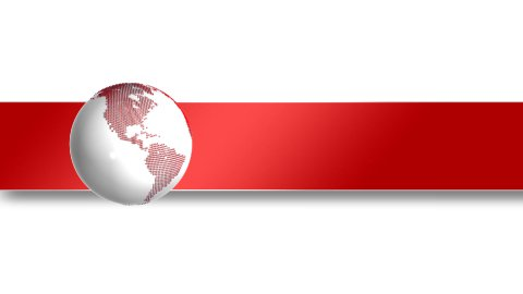 Global concept with red white pyramids creating shapes of continents - stock footage