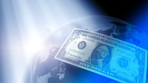 Dollars around the world LOOPED - stock footage