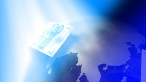 Euros around the world background LOOP - stock footage