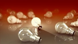 Light bulbs and new idea concept - motion graphic