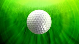 Golf ball background tracking shot LOOP - motion graphic