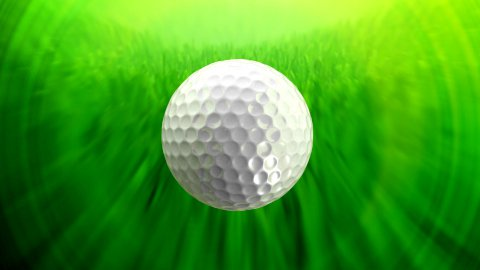 Golf ball background tracking shot LOOP - stock footage