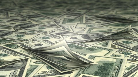 hundred dollars bills LOOP - stock footage