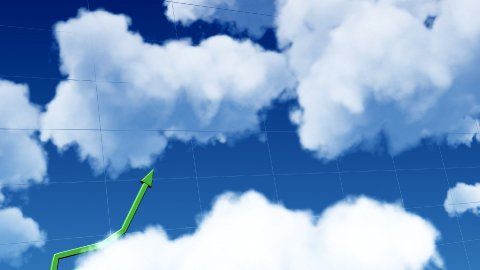 Business graph grows to sky LOOP - stock footage