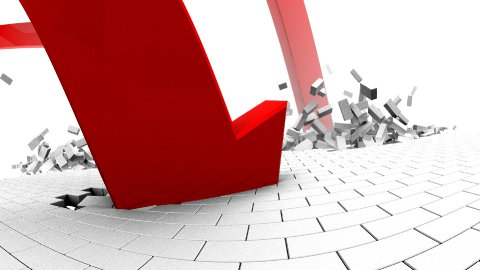 Indexes falling LOOP - stock footage