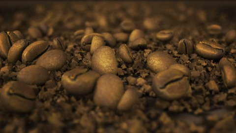 crushed coffee beans LOOP - stock footage