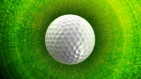 Golf ball background LOOP - stock footage