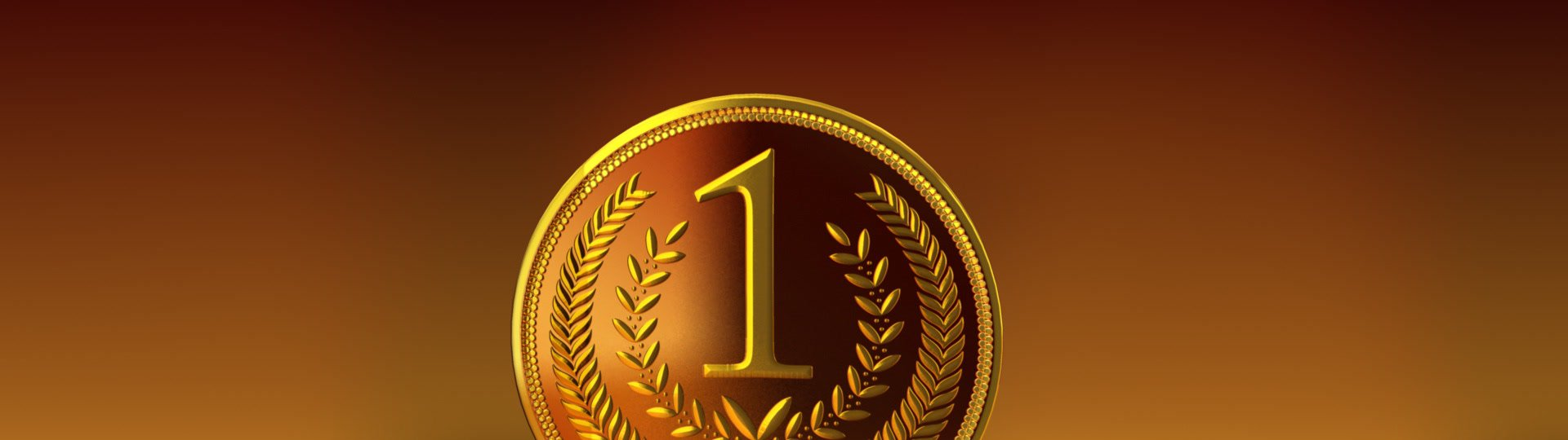 Gold medal on reflective background | gold medal on reflective background, alpha matte, seamless loop, HD1080p - ID:7020