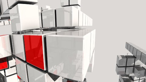 boxes build multi dimensional structures development concept - stock footage