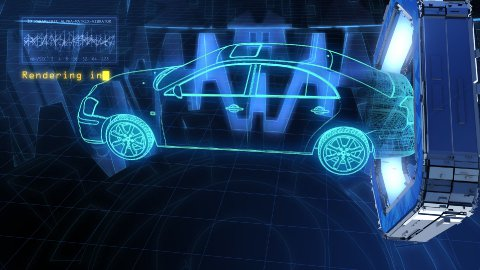 Cyber car - stock footage