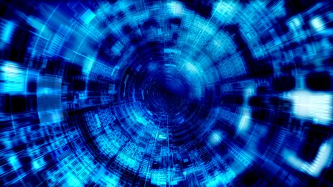 Cyber tunnel - stock footage