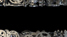 Gears horizontal moving - motion graphic
