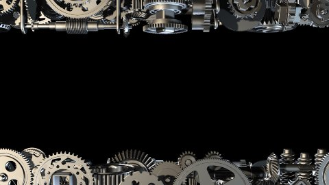 Gears horizontal moving - stock footage