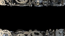 Gears horizontal standing - motion graphic