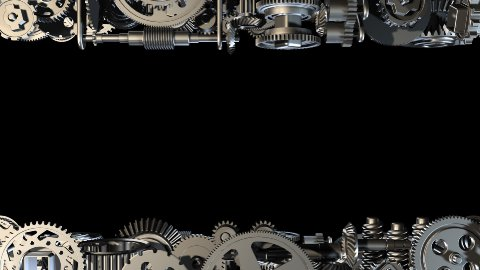 Gears horizontal standing - stock footage