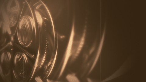Old movie reel - stock footage