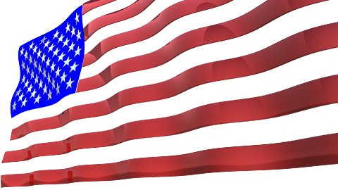 USA flag - stock footage