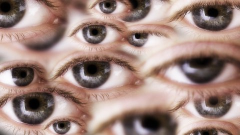 Many eyes - stock footage