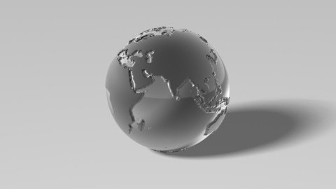 Silver globe - stock footage