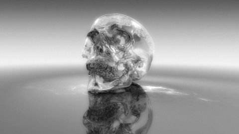 Crystal skull - stock footage