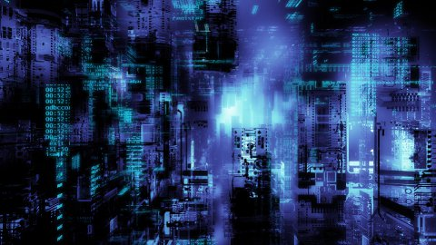 Cyber installation  - stock footage