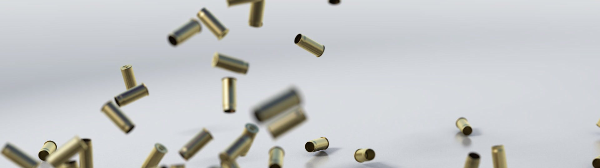Shells | 3d waterfall of bullet shells - ID:7177