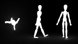Walking dummy - editable clip, motion graphic, stock footage