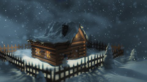 Winter house - stock footage
