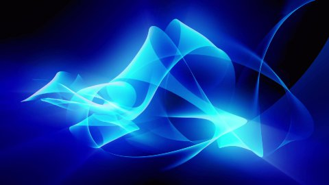 Blue Ribbon Background Loop - stock footage
