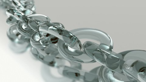 Infinity glassy chain LOOP  - stock footage