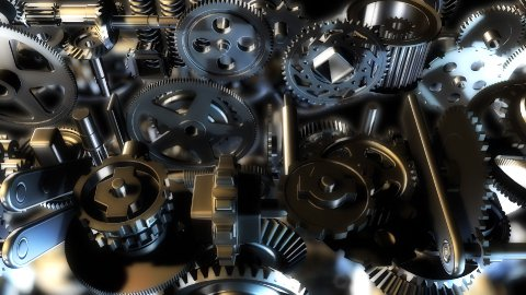 Endless gears - stock footage
