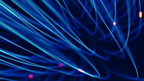 blue fiber background loop - stock footage