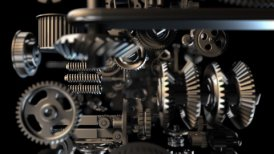 Gears background - motion graphic