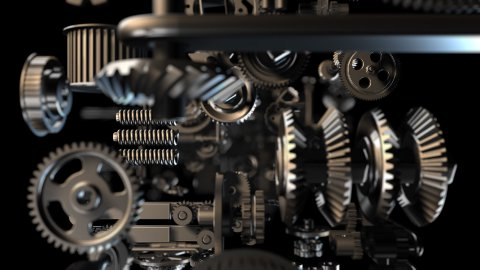 Gears background - stock footage